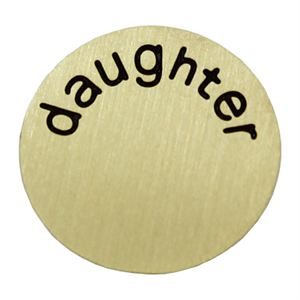 Picture of 'Daughter' Medium Gold Coin